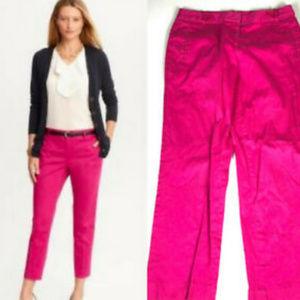 Anne Klein Crop Capri Pants 6 Pink Stretch Skinny